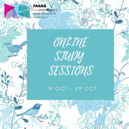 PARSA Wellness Week 2020 - Online Study Sessions